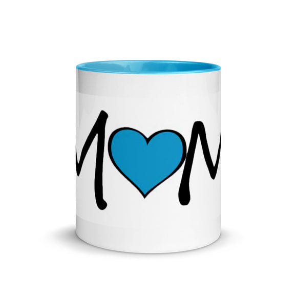 Blue and white Mom Coffee Mug