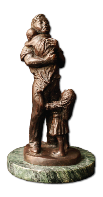 Fatherhood Sculpture - By Kenneth Wyatt