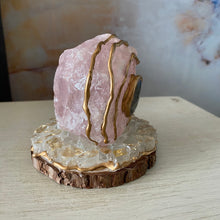 Load image into Gallery viewer, Trusting Love & Intuition / Rose Quartz / Labradorite / Home Decor / Gift of Good Intention