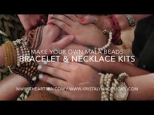 Load and play video in Gallery viewer, Design...Make - DIY Mala Necklace Kit - DIY Kit - 108 Beads - Prayer Beads - Custom Mala Necklace Kit