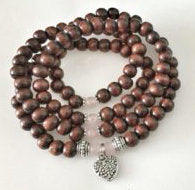 Load image into Gallery viewer, LOVE / Prayer Beads / Mala Beads / Mala Necklace / Rose Quartz / Heart