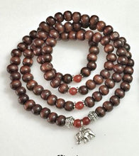 Load image into Gallery viewer, STRENGTH / Prayer Beads / Mala Beads / Mala Necklace / Carnelian / Elephant
