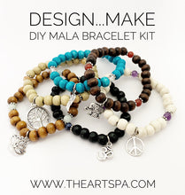 Load image into Gallery viewer, Design...Make - DIY Mala Bracelet - DIY Kit - 27 Beads - Prayer Beads - Custom Mala Bracelet Kit - Intention Bracelet - Simple Reminder