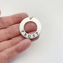 Load image into Gallery viewer, Add a Hand Stamped Intention Disc - Silver Aluminum Hand Stamped Disc