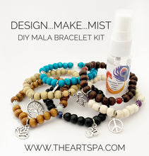 Load image into Gallery viewer, Design..Make..Mist - DIY Bracelet - Create Your Own Mala Bracelet - DIY Kit - 27 Beads - Prayer Beads - Custom Mala Bracelet Kit