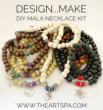 Load image into Gallery viewer, Design...Make - DIY Mala Necklace Kit - DIY Kit - 108 Beads - Prayer Beads - Custom Mala Necklace Kit