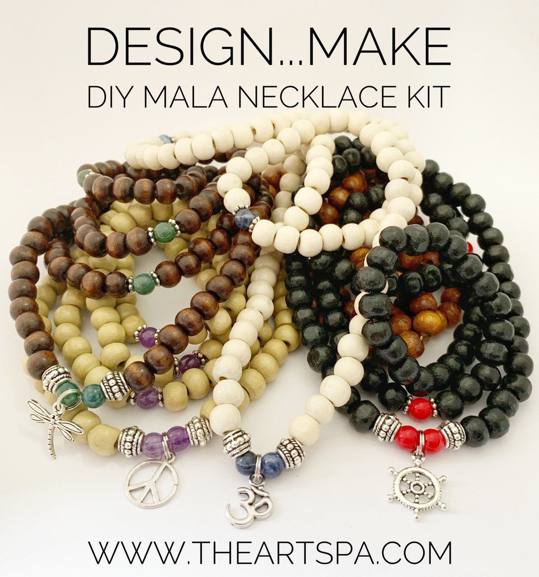 Design...Make - DIY Mala Necklace Kit - DIY Kit - 108 Beads - Prayer Beads - Custom Mala Necklace Kit