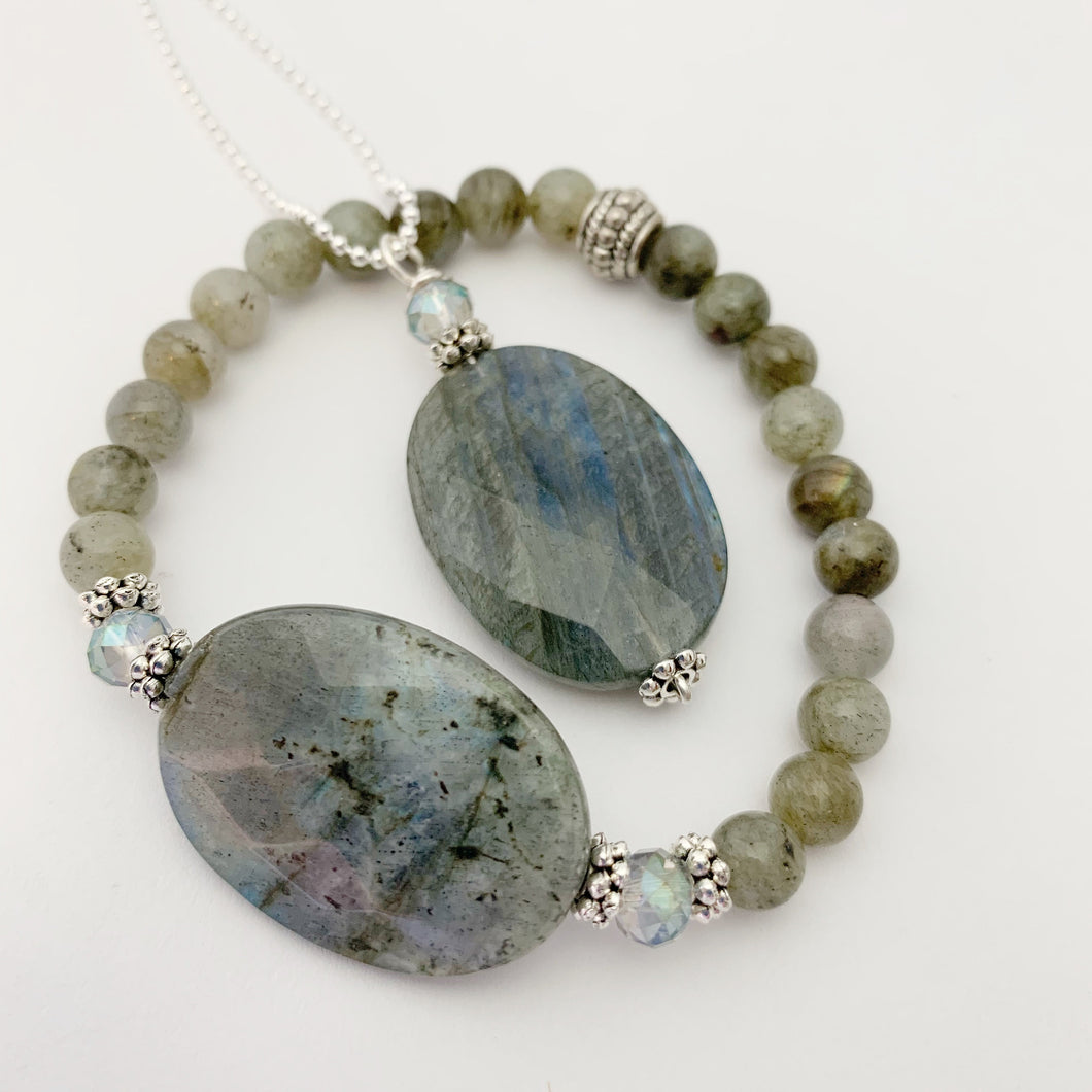 Bringer of Light Necklace / Bringer of Light Bracelet / Labradorite / Swarovski Crystal
