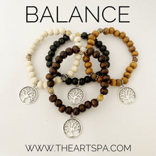 Load image into Gallery viewer, BALANCE / Simple Reminder Bracelet / Mala Bracelet / Crazylace Agate / Tree of Life