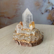 Load image into Gallery viewer, Mystical Manifest / Citrine / Clear Quartz / Home Decor / Gift of Good Intention
