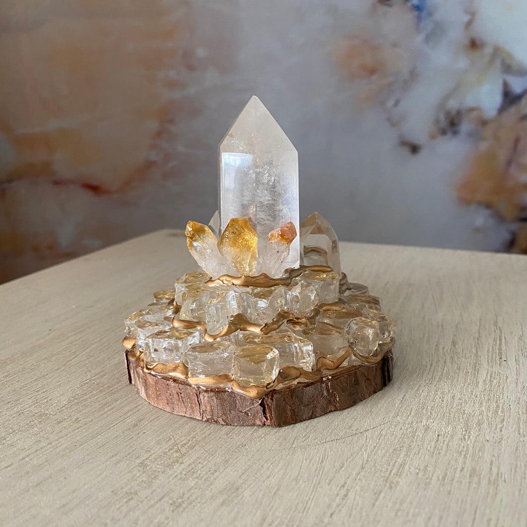 Mystical Manifest / Citrine / Clear Quartz / Home Decor / Gift of Good Intention
