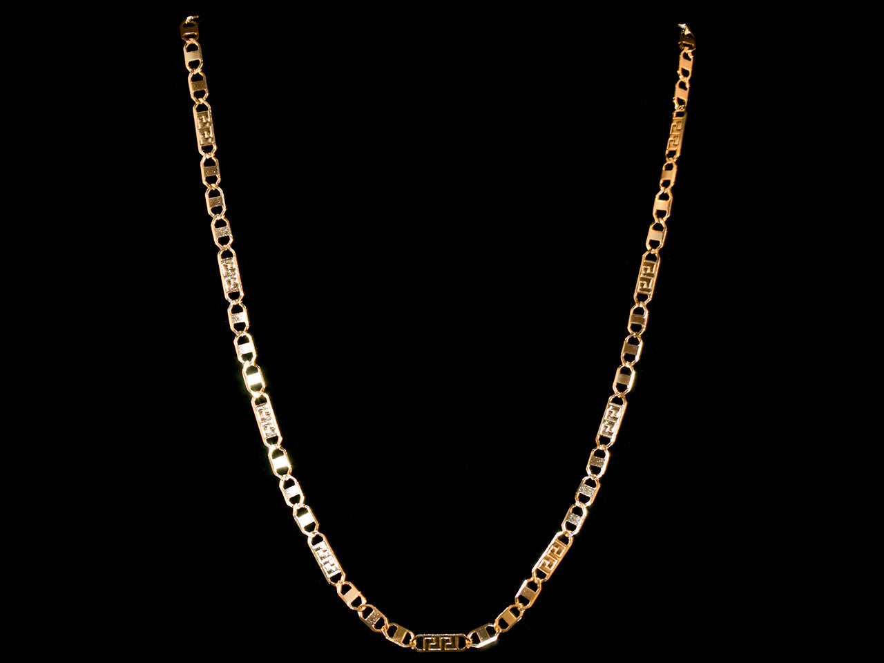 "Gold ""GG"" Necklace - 22 Inch"
