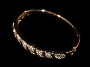 14K Gold Solid Crystal Bracelet - All4Gold.com