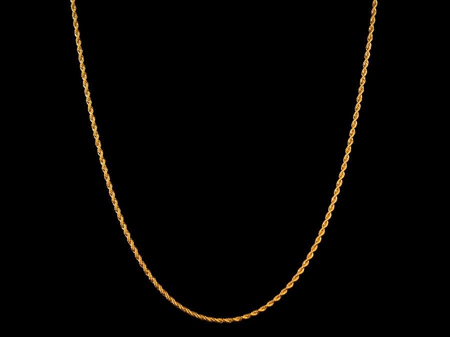 2mm Gold Rope Necklace - All4Gold.com