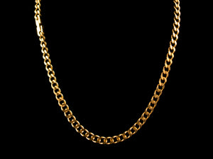 18K Gold 6mm Classic Cuban Link Necklace - All4Gold.com