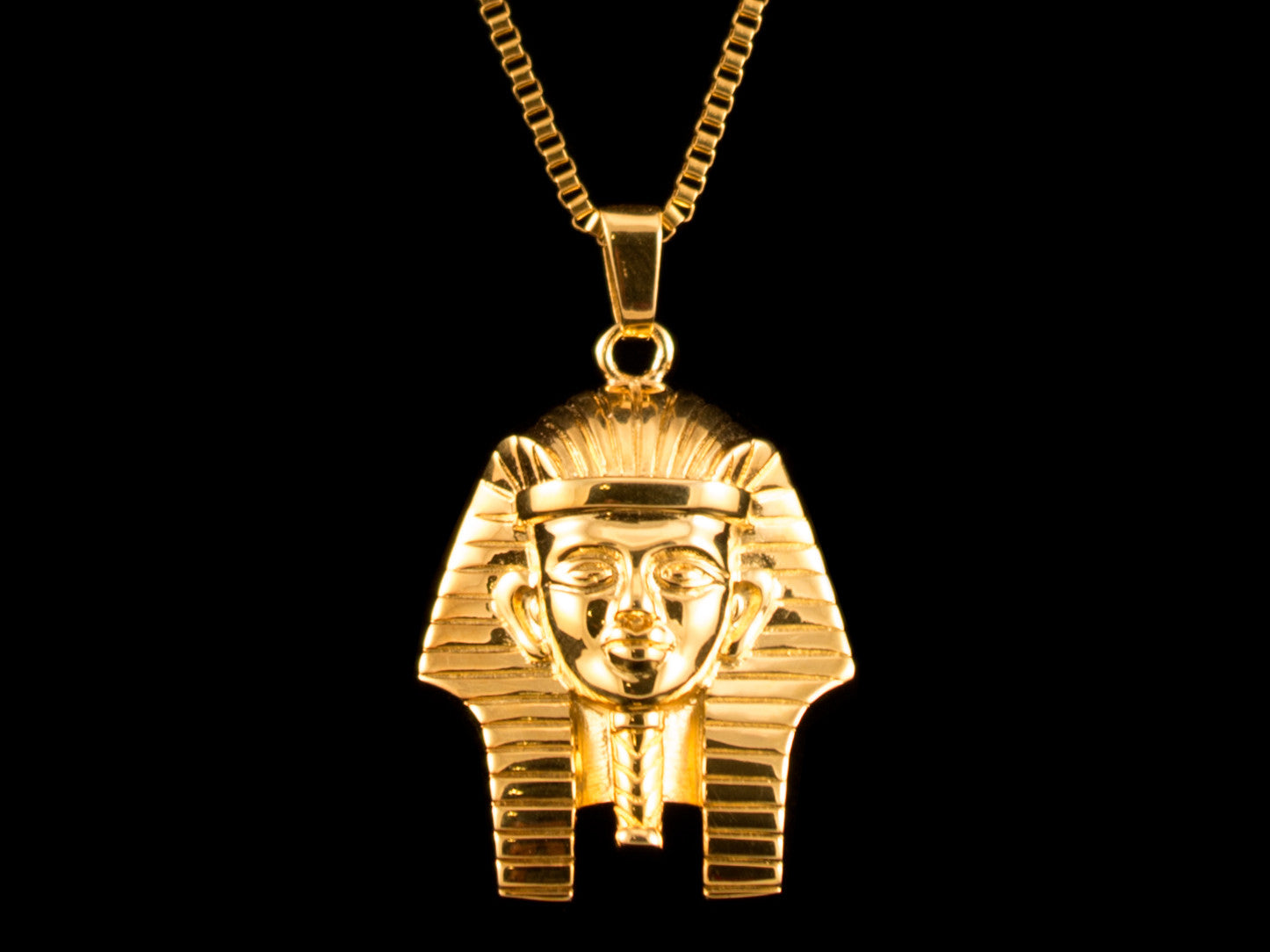 Pharaoh Headdress Charm & Necklace