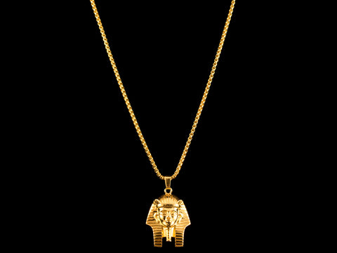 Egyptian Gold Pharaoh Headdress Charm