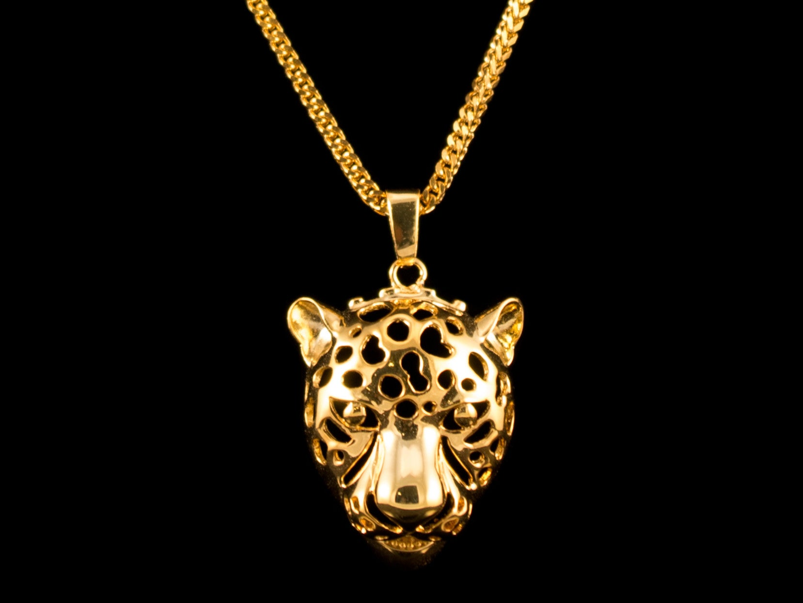 Gold Leopard Charm & Necklace