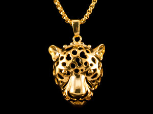 18K Gold Leopard Charm + Necklace - All4Gold.com