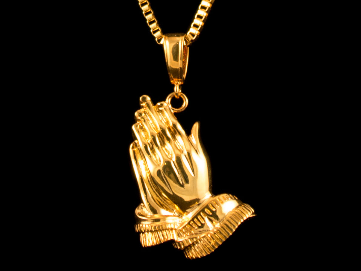 Praying Hands Charm & Necklace