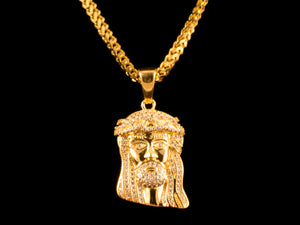 Iced Jesus Piece Pendant - All4Gold.com