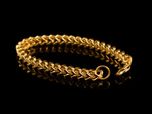 18K Gold 6mm Franco Bracelet - All4Gold.com