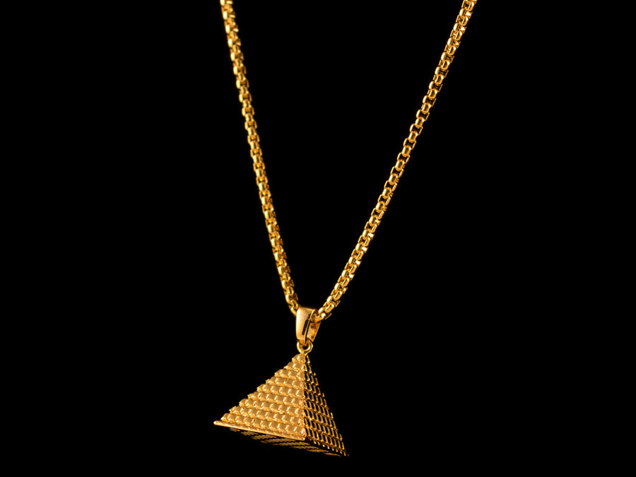 Gold Great Pyramid Pendant + Necklace - All4Gold.com