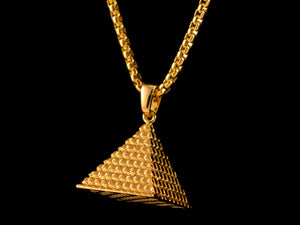Great Pyramid Pendant + Necklace - All4Gold.com