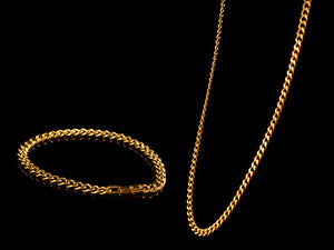 18K Gold 6mm Classic Cuban Link Chain + Bracelet - All4Gold.com