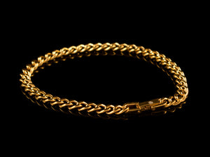 Cuban Link Bracelet - Gold, 6mm - All4Gold.com