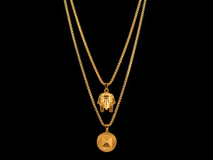 Egyptian Gold Pharaoh + Micro Pave Pyramid Set - All4Gold.com