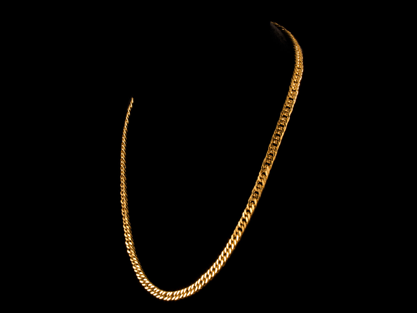 "20"" Heavy Cuban Link Necklace - Gold, 6mm"
