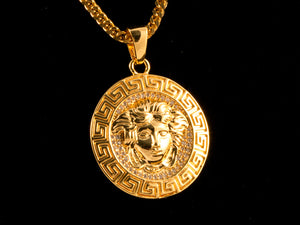 18K Gold Iced Medusa Charm - All4Gold.com