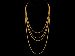 18K Gold 2mm Rope Necklace - All4Gold.com