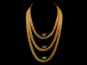 8mm Gold Heavy Cuban Link Chain - All4Gold.com