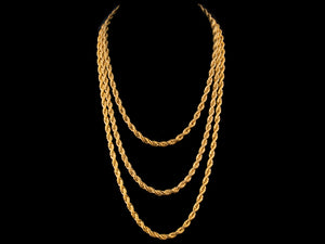 18K Gold 6mm Rope Chain - All4Gold.com
