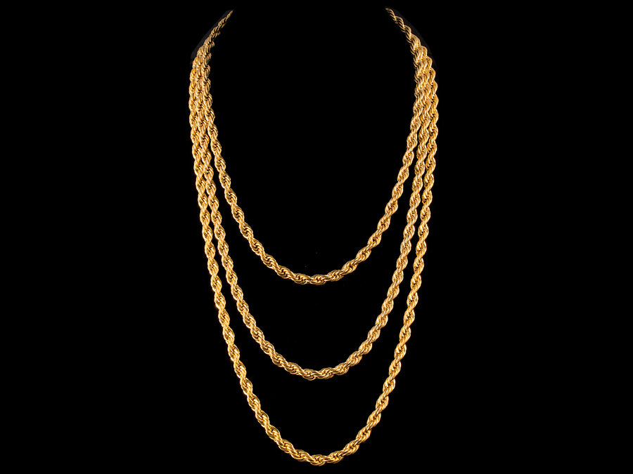 6mm Gold Rope Chain - All4Gold.com
