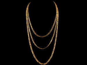 18K Gold 4mm Figaro - All4Gold.com