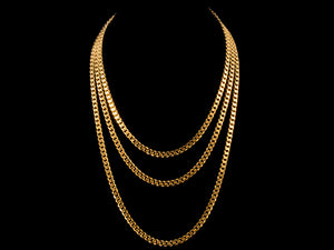 5mm Cuban Link Chain - Gold - All4Gold.com
