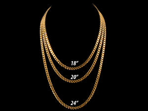 18K Gold 5mm Classic Cuban Link - All4Gold.com