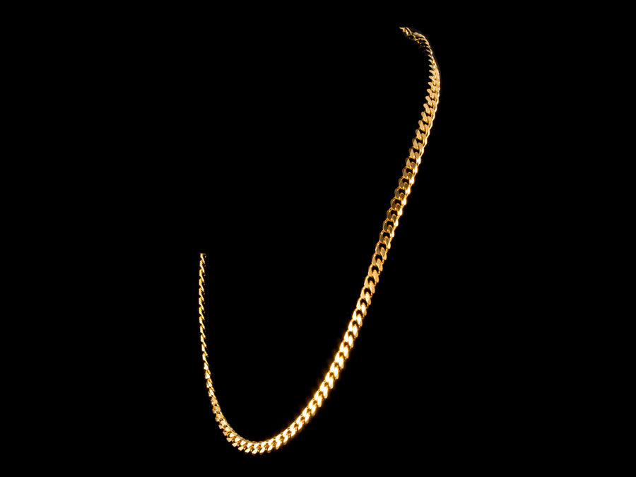 18K Gold 5mm Cuban Link Chain - All4Gold.com