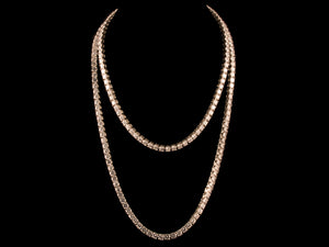 5mm Diamond Cut Iced Tennis Chain - White Gold - All4Gold.com