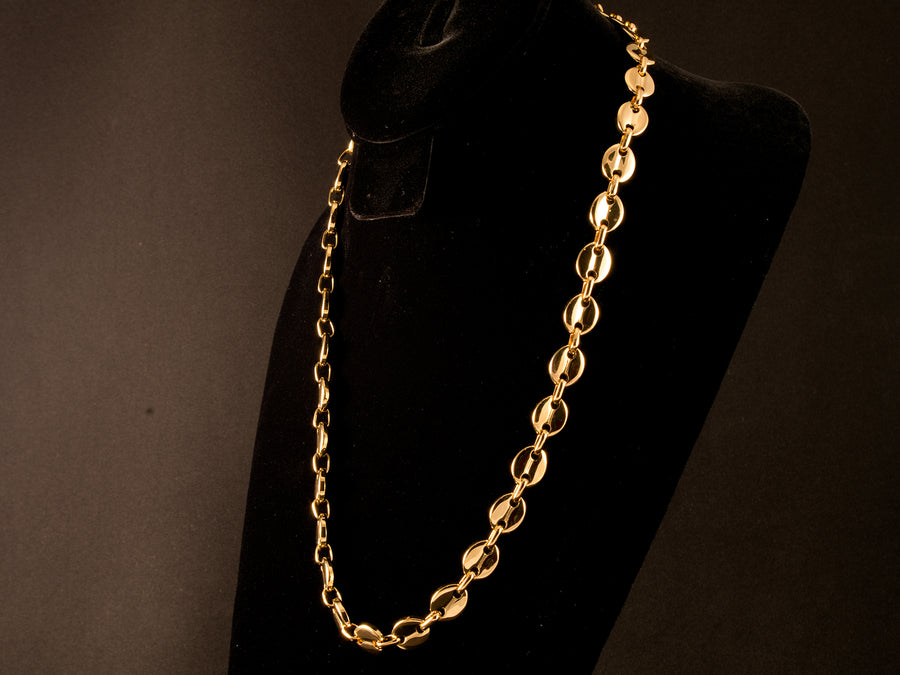 18K Gold Solid Mariner Chain - All4Gold.com