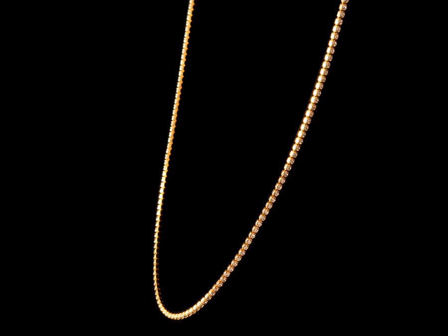 18K Gold 2mm Iced Tennis Chain