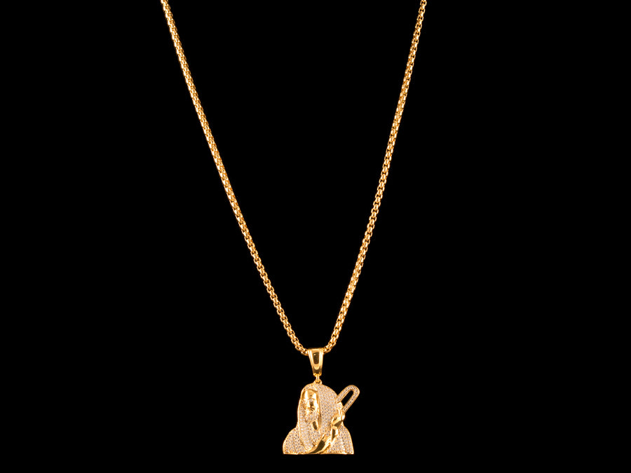 18K Gold Paved Jesus Piece
