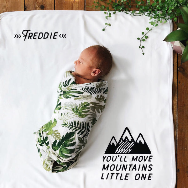 Mountains Personalised Baby Photo Blanket