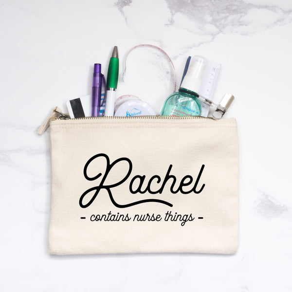 Personalised 'Nurse/Doctor Things' Pouch