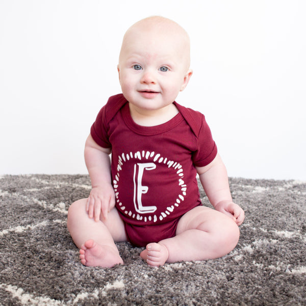 Personalised Initial T Shirt/Bodysuit