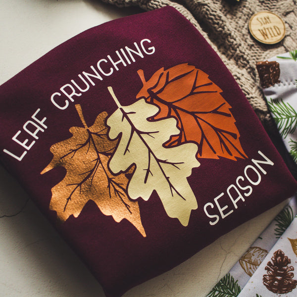 Leaf Crunching Season Zip Up Hoody
