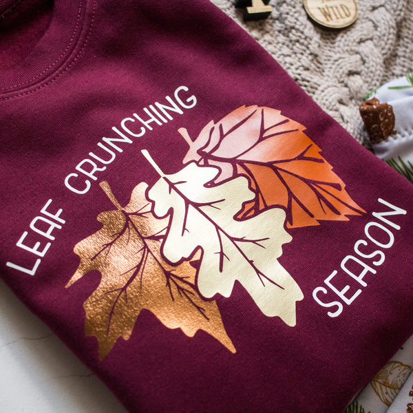 Leaf Crunching Season Adult Organic Sweatshirt